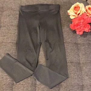 Metallic gray PINK leggings